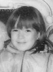 b&w image of Christina at age 4